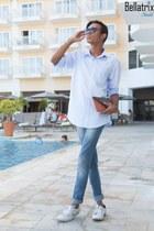 sky blue Mango jeans