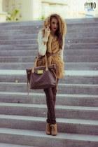 suiteblanco heels - TRF Zara coat - Bershka sweater - Stradivarius pants