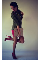 Lefties bag - Stradivarius shirt - Bershka skirt - suiteblanco sandals