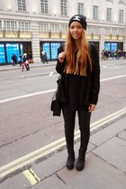 H&M boots - Bijenkorf blazer - leahter H&M pants