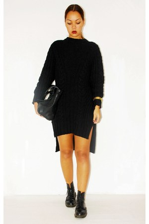 H&M sweater - doc martens shoes - Zara bag