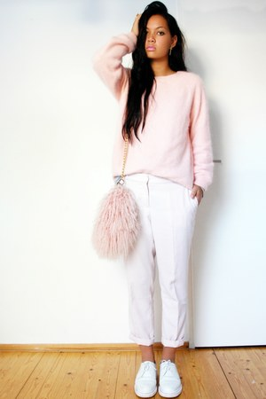 H&M sweater - docmartens shoes - River Island bag - pants pants