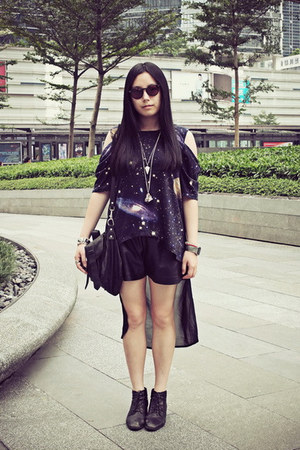 black Bata boots - black Sukiired shorts - dark brown Marc Jacobs sunglasses