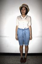 hat - blazer - Mango shorts - NANING9 shoes