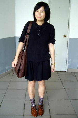 shirt - skirt - tights -  purse - NANING9 shoes