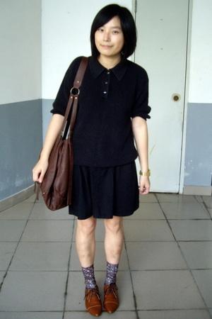 shirt - skirt - tights -  purse - NANING9 shoes