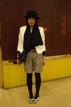 5cm hat - twopercent jacket - belt - DIZEN shorts - - Giordano Concepts shoes