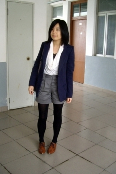 McQueen jacket - twopercent blouse - KACO shorts - NANING9 shoes