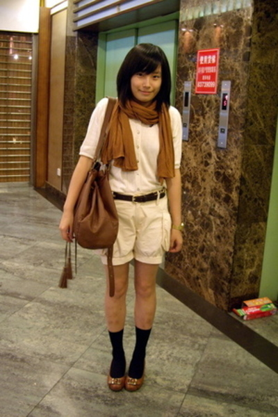 shirt - Recycletheme shorts - H&M scarf - CnE shoes