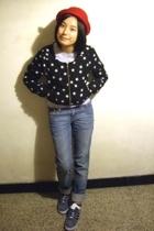 hat - Zara t-shirt - H&M jacket - H&M jeans - adidas original shoes