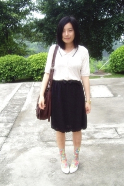 blouse - TH belt - twopercent skirt -  - stockings - staccato shoes