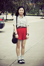 Black-riiika-shoes-dark-brown-moms-vintage-bag-red-shorts-light-blue-socks