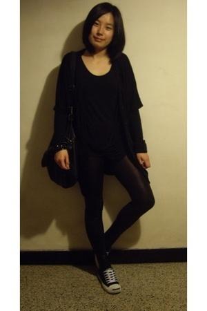 OFIER - twopercent blouse - H&M bracelet - leggings - dizen de brand - Converse