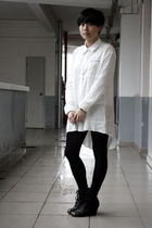 white chapel shirt - black leggings - black Katie Judith shoes