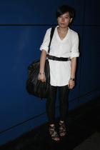 Giordano Concepts dress - twopercent belt - ISO purse - bracelet - leggings - pu