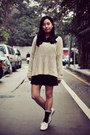 Off-white-sweater-black-united-colors-of-benetton-shirt-dark-gray-socks