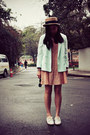 Chapel-ring-dazzlin-dress-straw-hat-monki-blazer-h-m-sunglasses