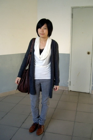 twopercent t-shirt - coat - Urban Renewal jeans -  purse - NANING9 shoes
