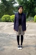 McQueen jacket - twopercent shirt - TH belt - DIZEN shorts - on & on shoes