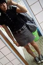 twopercent t-shirt - Izzue skirt - TH belt - Converse shoes
