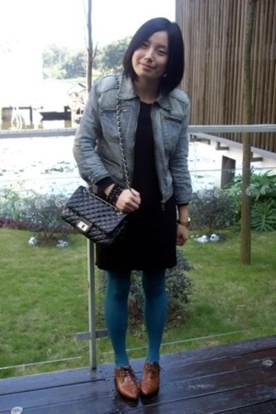blues heroes denim jacket - TH dress - H&M bracelet - - NANING9 shoes