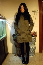 coat -  scarf - Mango shoes - Giordano Concepts jacket - ODF skirt - leggings