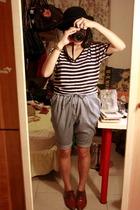 5cm hat - EC perception t-shirt - Mango shorts - NANING9 shoes