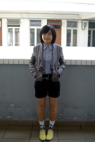 TH coat - dog dept shirt - TH belt - j-honey shorts - Paul Smith skirt - bambini