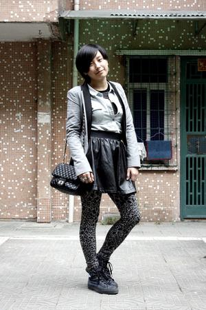 gray Giordano Concepts blazer - blue Sie go shirt - black JAKET sweater - black