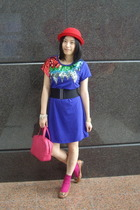 hat - dress - baleno attitude belt - CRABTREE & EVELYN - H&M socks - CnE shoes
