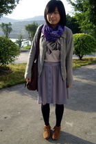  shirt - coat -  skirt - H&amp;M scarf - shoes -  purse