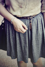 Gray-h-m-skirt-black-bata-boots-camel-river-island-shirt-black-rubi-bag