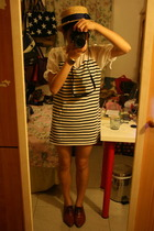 hat - dress - NANING9 shoes