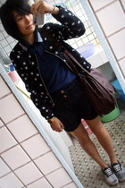 H&M jacket - fishbane t-shirt - j-honey shorts - Vans shoes