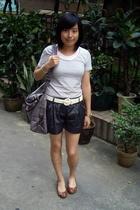 TH t-shirt - shorts - dizen de brand purse - CnE shoes