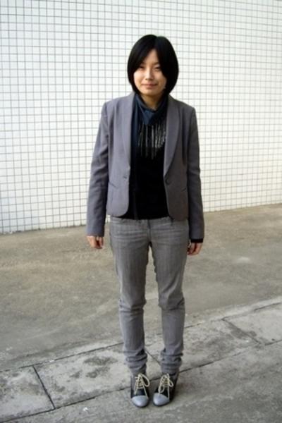 TH coat - twopercent t-shirt - twopercent scarf - Urban Renewal jeans - NANING9