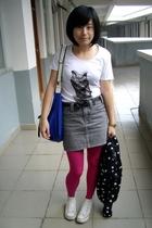 t-shirt - TH belt - Izzue skirt - TH purse - Converse shoes - H&M jacket
