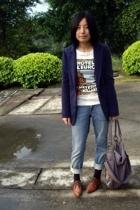 McQueen jacket - runway to railway t-shirt - H&M jeans - Uniqlo socks - twoperce