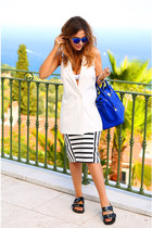Zara sandals - Hermes bag - Topshop sunglasses - Zara skirt - Myberry vest