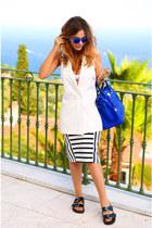Zara sandals - Hermes bag - Topshop sunglasses - Zara skirt - Myberry vest
