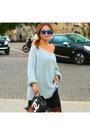 H-m-dress-vanessa-bruno-sweater-chanel-bag-topshop-sunglasses-aldo-heels