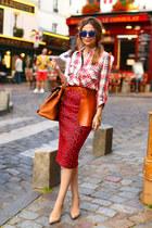 River Island skirt - Zara shirt - Hermes bag - Topshop sunglasses