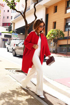 Celine coat - Chanel bag - Miu Miu sunglasses - Tom Ford pants - Zara heels