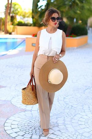 Zara top - Totti hat - Dolce & Gabbana bag - H&M sunglasses - Aldo heels