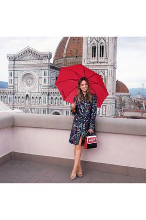 Valentino coat - Les Petits Joueurs bag - Jimmy Choo flats