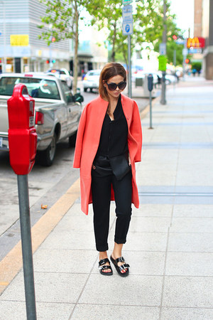 Zara sandals - Celine coat - H&M sunglasses - Zara pants - Zara blouse