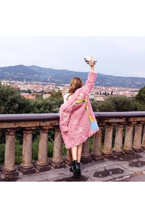 Givenchy boots - Marni dress - se coat - BENEDETTA BRUZZICHES bag