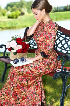 Ulyana Sergeenko dress - Ulyana Sergeenko sunglasses