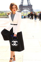 Tom Ford jacket - Chanel bag - asos sunglasses - H&M skirt - Zara heels