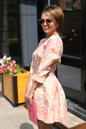 vintage ring - Ulyana Sergeenko dress - Topshop sunglasses